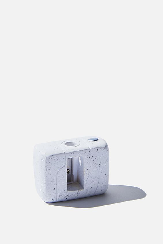 Resin Pencil Sharpener, SPECKLED CAMERA