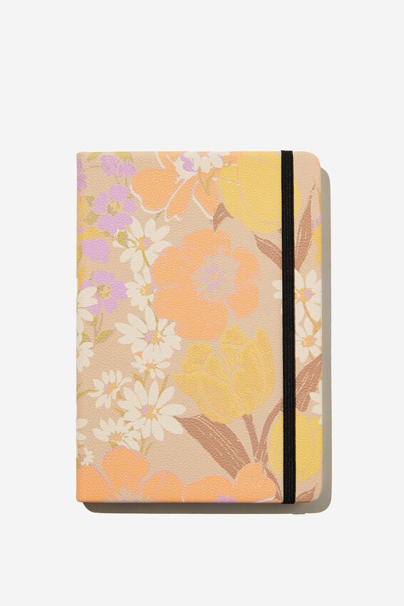 """A5 Buffalo Journal (5.8"""" x 8.2""""), SAND GOLDIE FLORAL"""