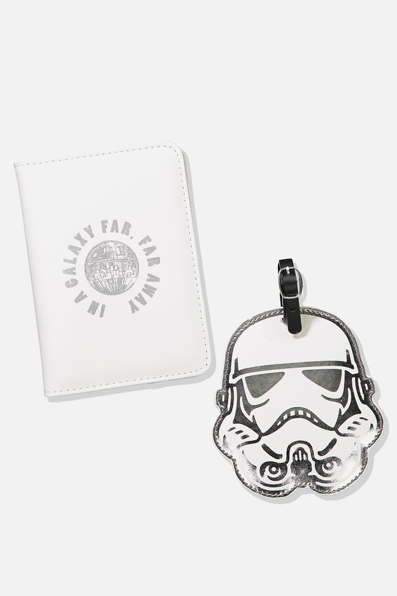 Passport Holder & Luggage Tag Set, LCN STORM TROOPER