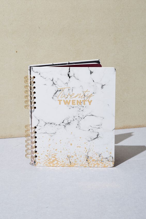 2020 Ultimate Planner, WHITE MARBLE