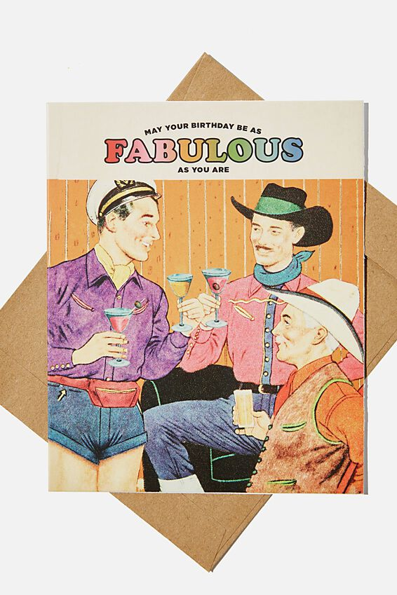 Funny Birthday Card, BIRTHDAY BE FABULOUS AS YOU!