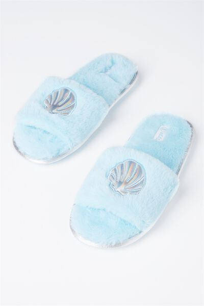 Slippers, FUR SHELL