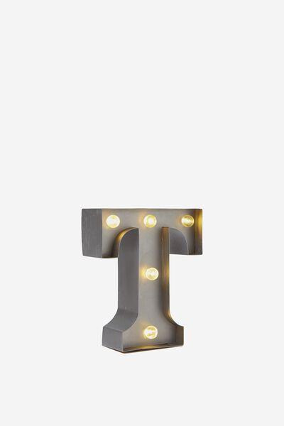Mini Marquee Letters 10Cm, SILVER T