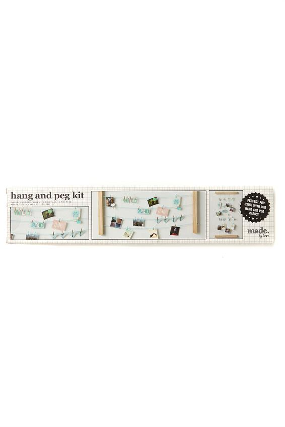 Large Hang And Peg Frame Kit, NATURAL