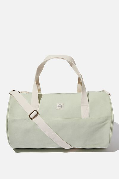 Canvas Barrel Bag, WASHED SAGE