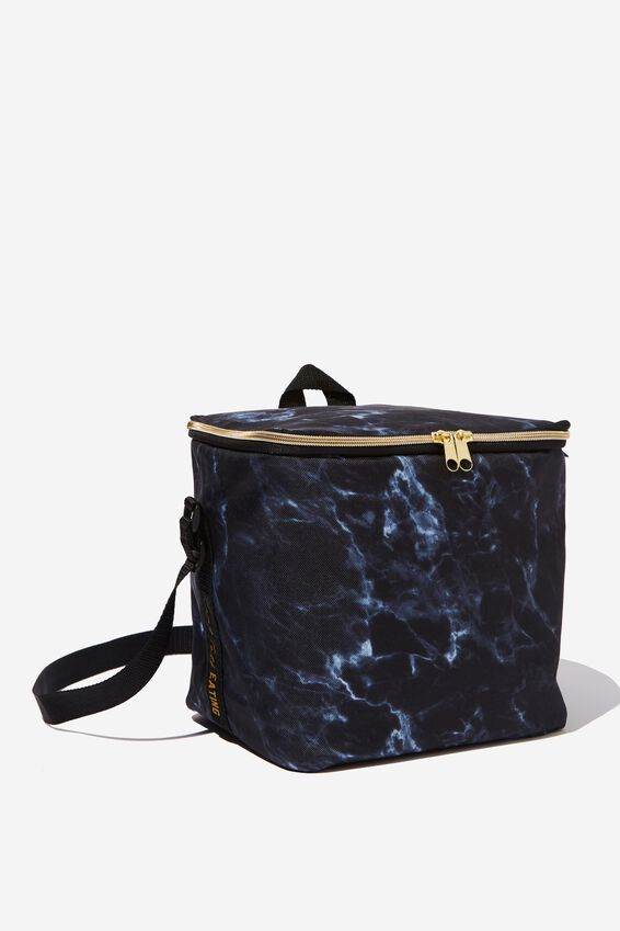Tall Cooler Bag, BLACK MARBLE