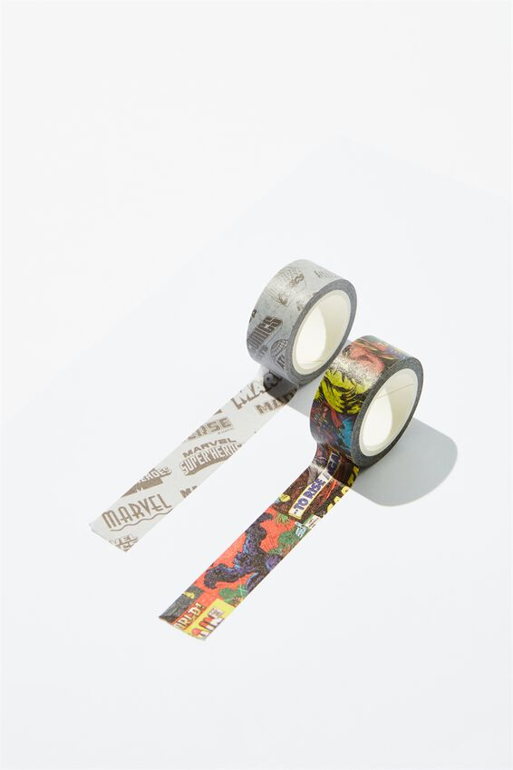 Marvel Washi Tape 2Pk, LCN MAR MARVEL YARDAGE