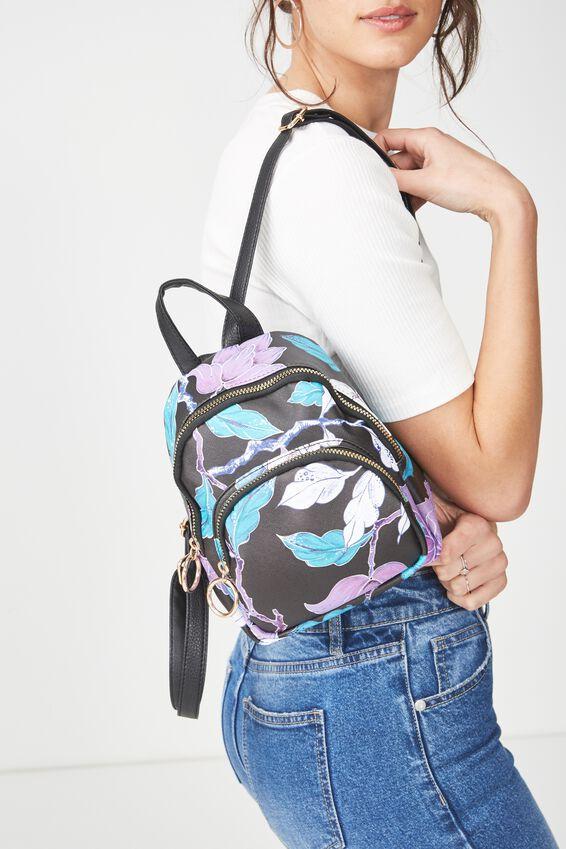 Mini Madrid Backpack, LUSH FLORAL