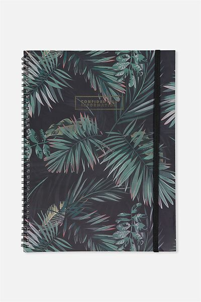 A4 Spinout Notebook - 120 Pages, PALM LEAVES