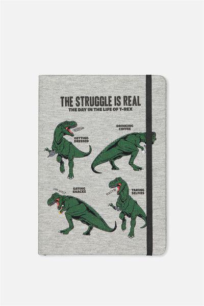 Medium Buffalo Journal, T REX STRUGGLE GREY MARBLE
