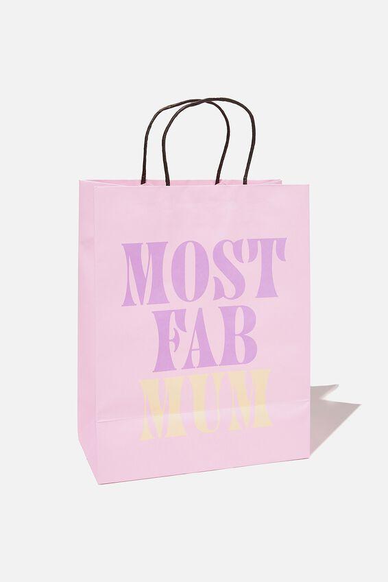 Get Stuffed Gift Bag - Medium, LILAC MOST FAB MUM