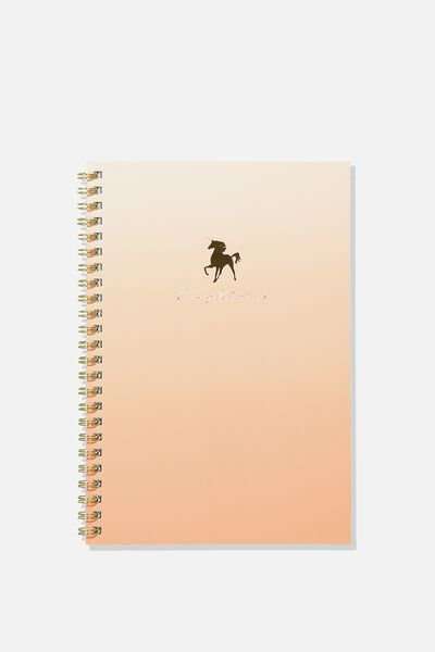 2019 Hardcover Spiral Diary, OMBRE UNICORN