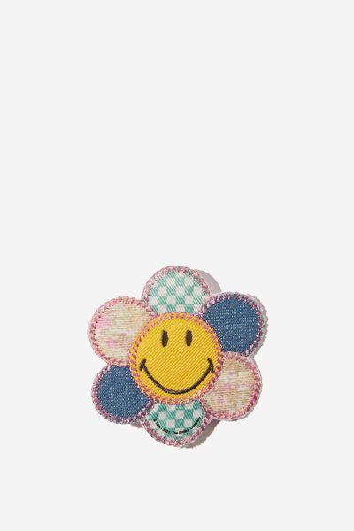 Fabric Badge, LCN SMI SMILEY COTTAGE CORE FLOWER
