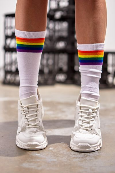 Mens Novelty Socks, STRIPE RAINBOW