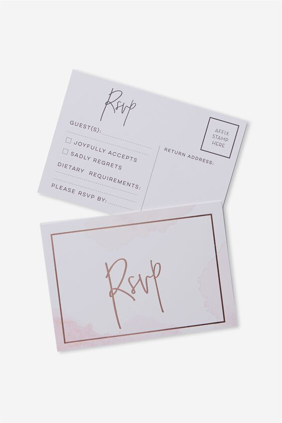 Rsvp Post Cards 10 Pk, WATER COLOUR