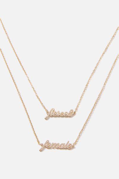 Novelty Necklace, FIERCE & FEMALE