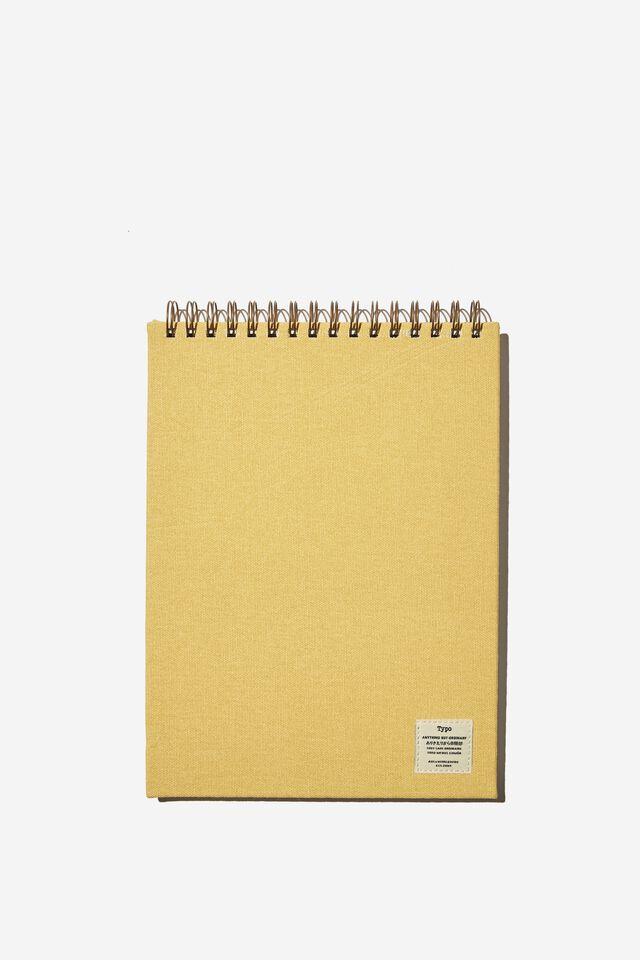A4 Spiral Sketch Book, WASHED MUSTARD