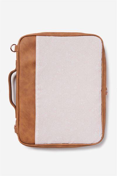 Mobile Laptop Folio, BLUSH LACE