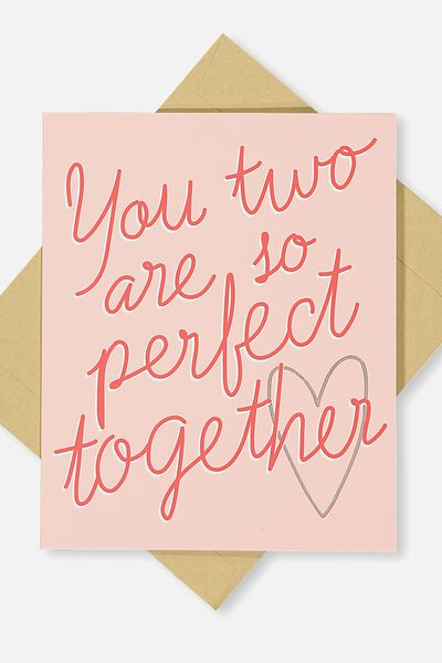 Wedding Card, PERFECT TOGETHER