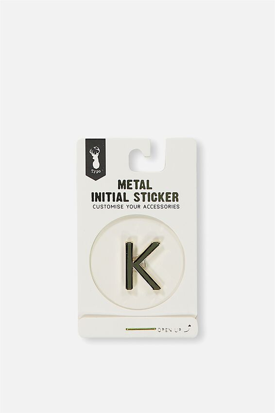 Metal Stickers, GOLD K