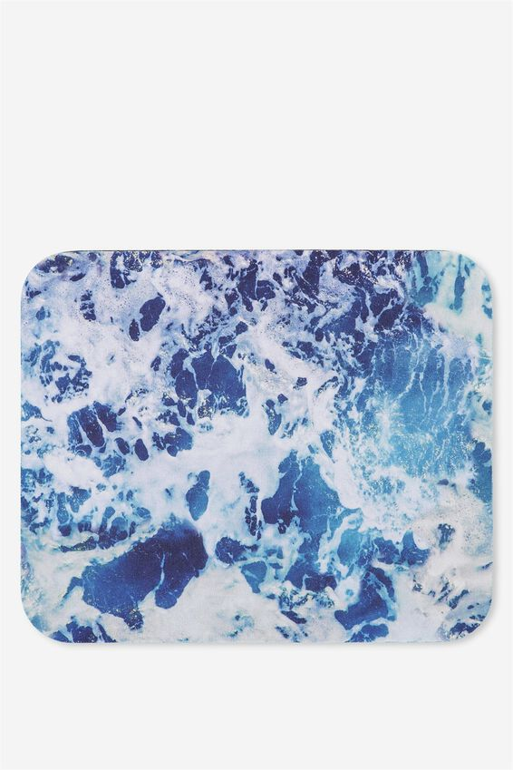 Neoprene Mouse Pad, WATER PRINT