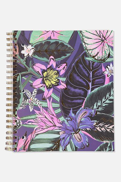 College Ruled Campus Notebook, RESORT FLORAL