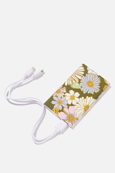 Printed Charge It Charger, SUNNIE FLORAL