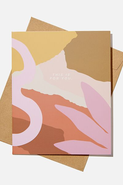 Blank Card, THIS IS FOR YOU ABSTRACT
