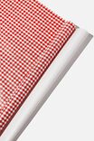 Roll Wrapping Paper, RED GINGHAM SMALL