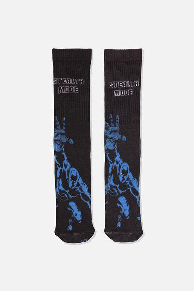 Mens Novelty Socks, LCN MAR BLACK PANTHER
