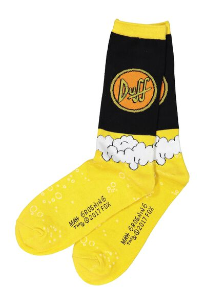 Mens Novelty Socks, LCN SIMPSONS DUFF