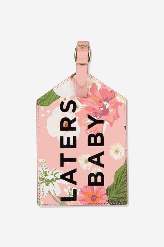 Jumbo Luggage Tag, LATERS BABY BLUSH FLORAL