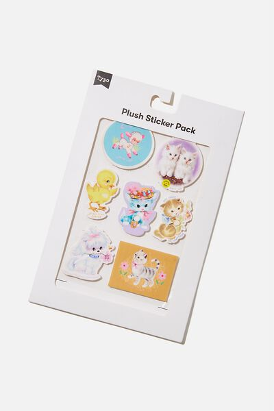 Plush Sticker Pack, NOT TODAY CAT!!
