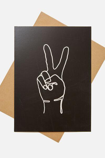 Large Fashion Card, PEACE HAND