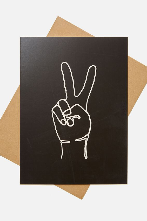 Large Fashion Card, PEACE HAND