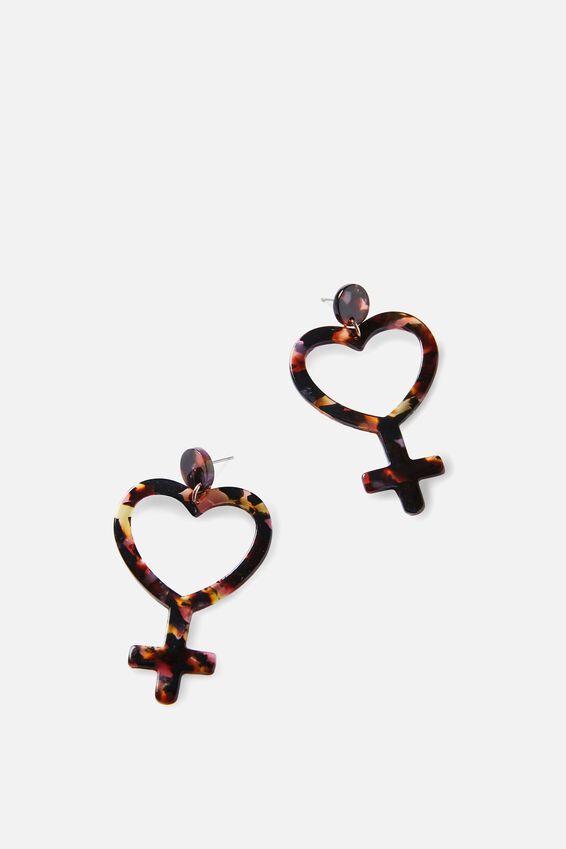 Premium Novelty Earrings, GIRL LOVE