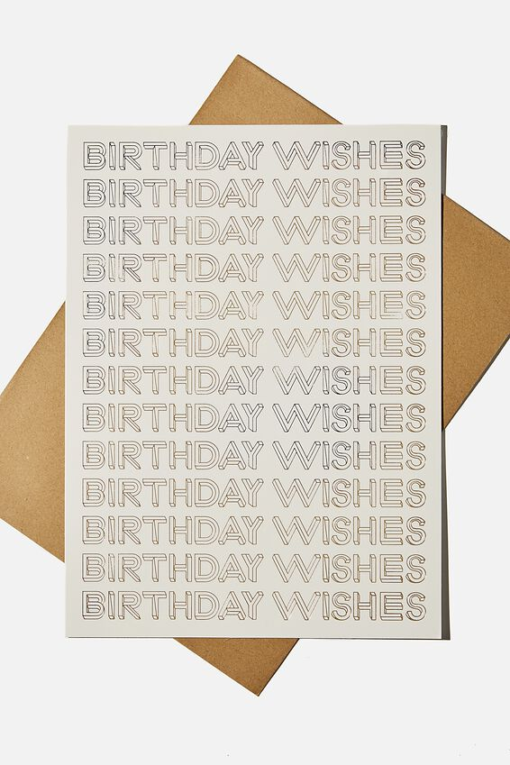 Large Card, BIRTHDAY WISHES REPEAT
