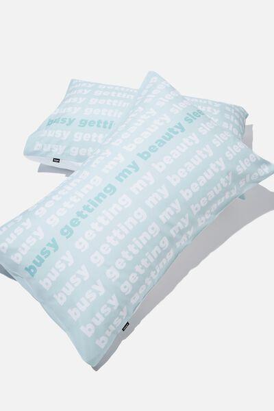 Novelty Pillow Cases Set Of 2, BEAUTY SLEEP