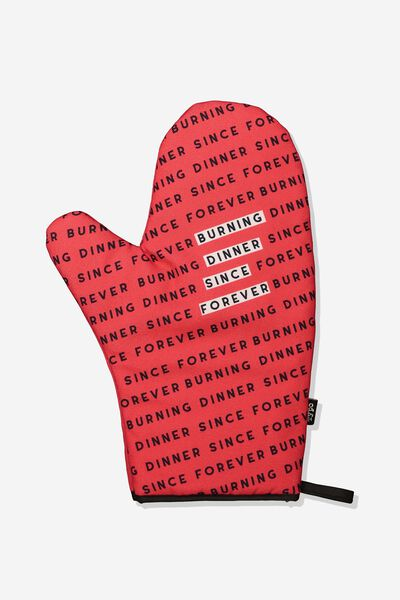 Oven Mitt, BURNING DINNER