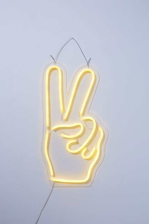 Large Led Wall Light, PEACE HAND