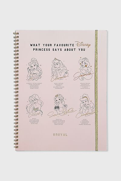 A4 Spinout Notebook - 120 Pages, LCN DISNEY ROYALS
