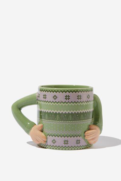 Christmas Novelty Shaped Mug, MY KIND OF CHRISTMAS SPIRIT!