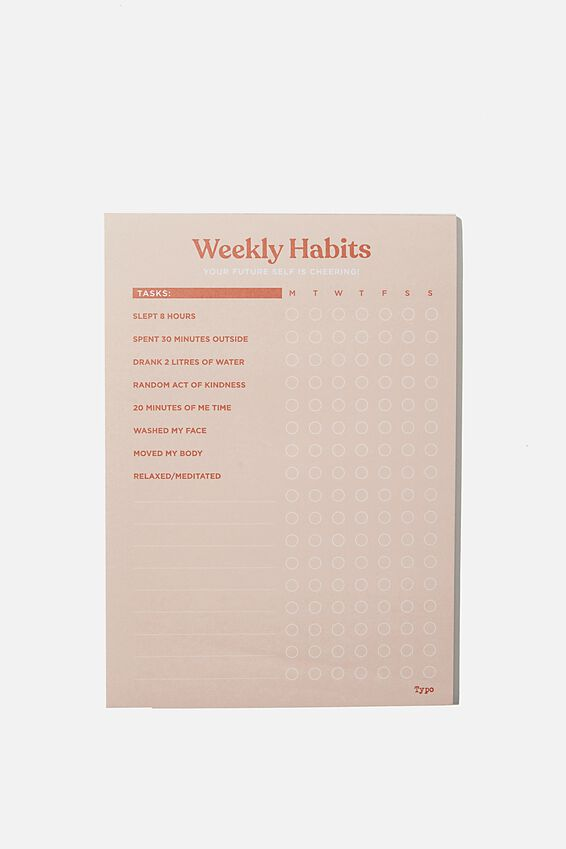 A5 Wellness Tracker, CHANGE