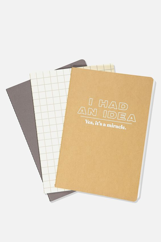 B5 3Pk Get It Done Notebooks, I HAD AN IDEA
