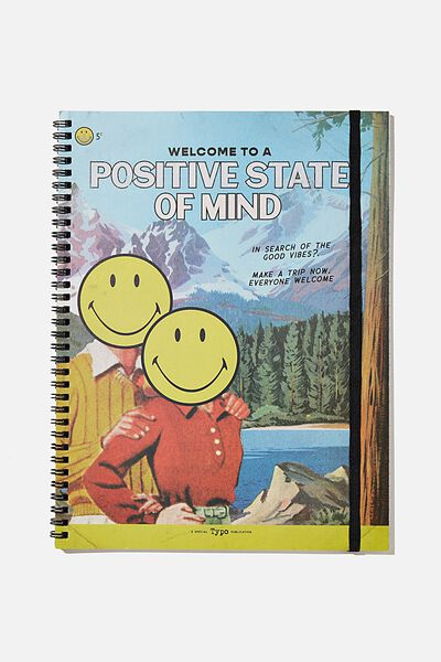 A4 Spinout Notebook Recycled, LCN SMI VINTAGE POSITIVE STATE OF MIND