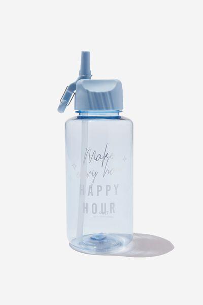 Suck It Up Drink Bottle, BLUE HAPPY HOUR