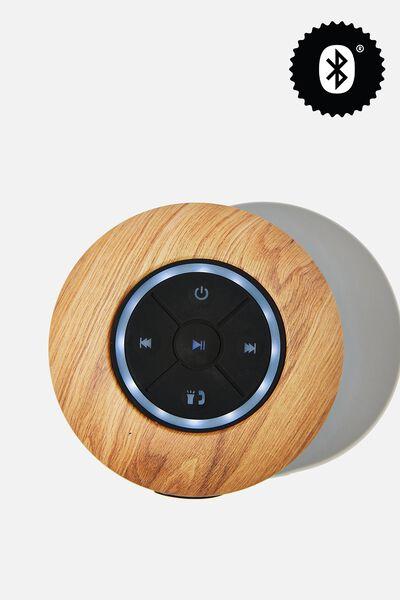 Wireless Led Shower Speaker, MAPLE WOODGRAIN 2.0
