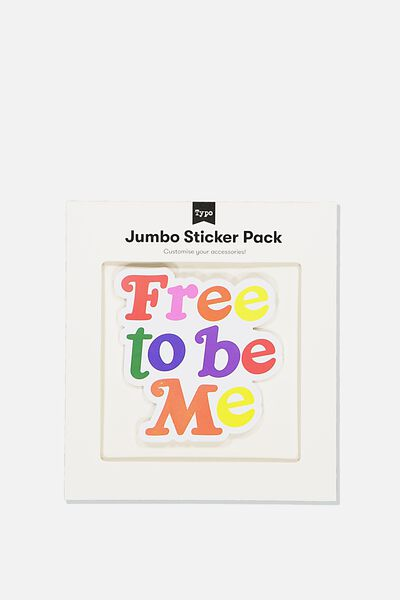 Jumbo Sticker, FREE TO BE ME