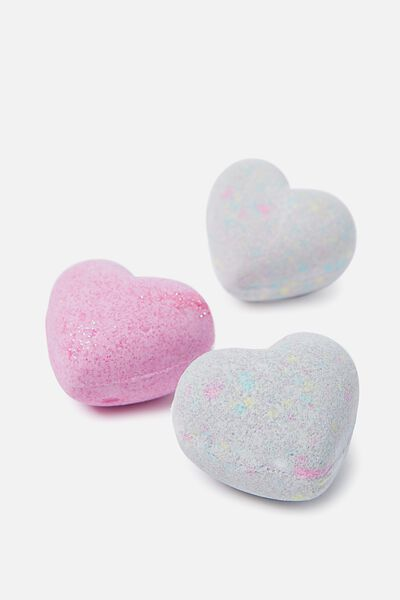 Bath Fizzer Set, HEARTS