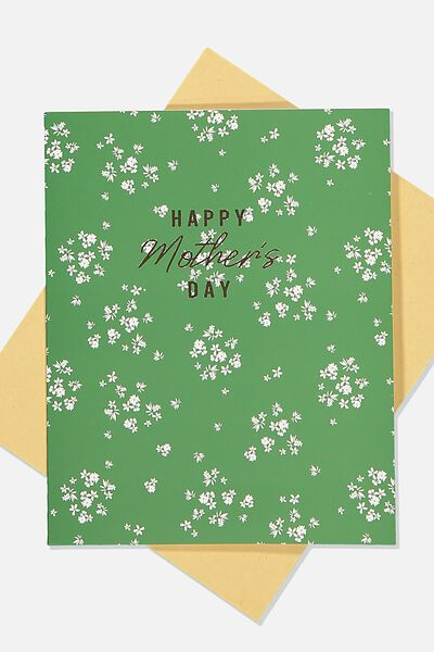 Mothers Day Card 2020, GREEN FLORAL MD